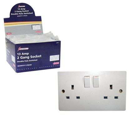 2 Way D.P. Switched Socket - 13A