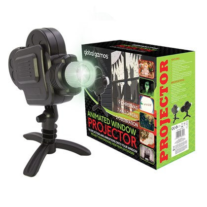 Festive Window Projector - 18 Movies