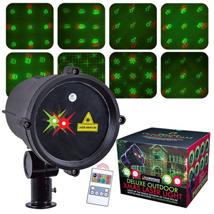 Moving Xmas Outdoor Laser Light/Timer & R/C