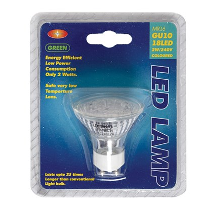 2w 18 LED GU10 Colour Bulb