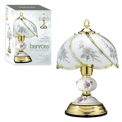 """14"""" Touch Lamp - Black Rose"""