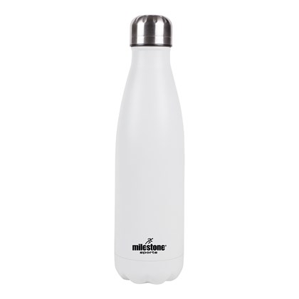 500ML Double Walled S/S Drinking Bottle - White