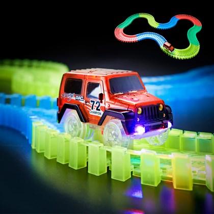 165pc Flexi Trax W/ LED B/O Car