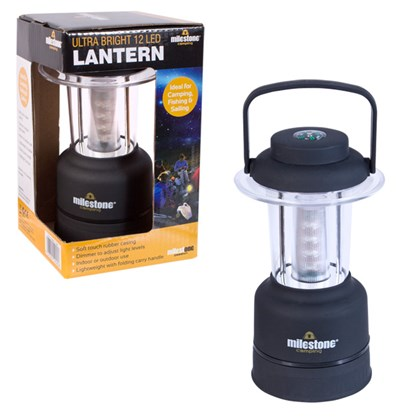 12 LED Mini Lantern With Adjustable Light