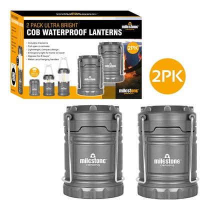 2PACK Ultra Bright COB Camping Lantern
