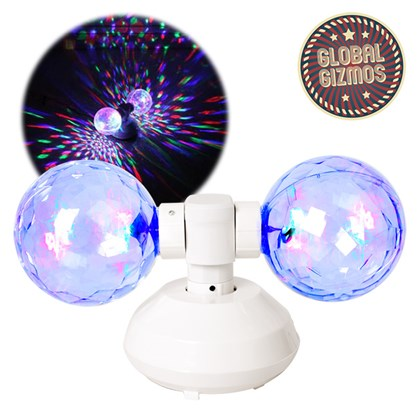 Twin Crystal Ball LED Light