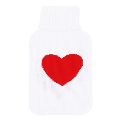 2Ltr Heart Knitted Hot Water Bottle