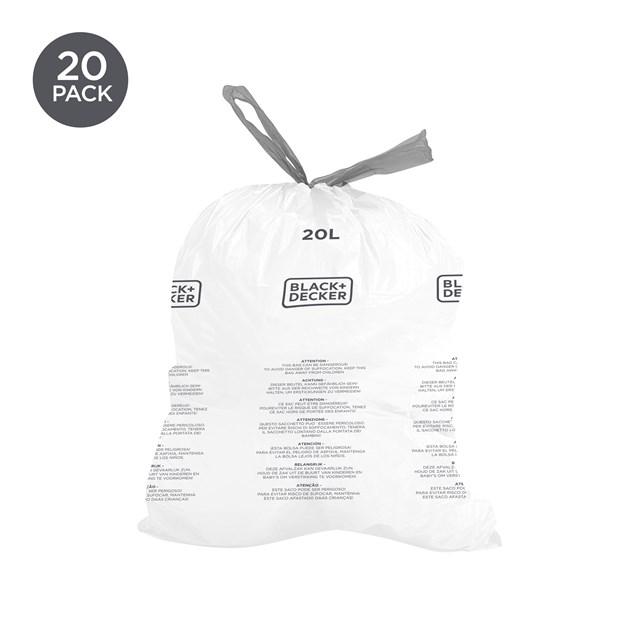 B+D 20L Bin Bags 20 Pack