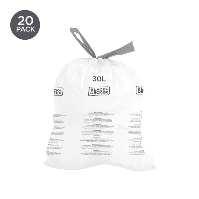 B+D 30L Bin Bags 20 Pack