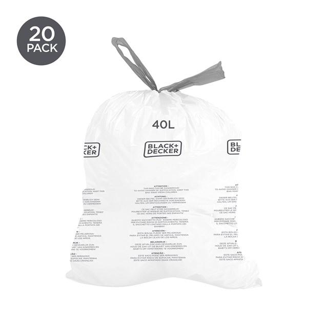 B+D 40L Bin Bags 20 Pack