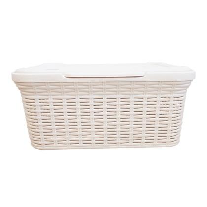 Rattan Laundry Box - 27 Litre - Cream