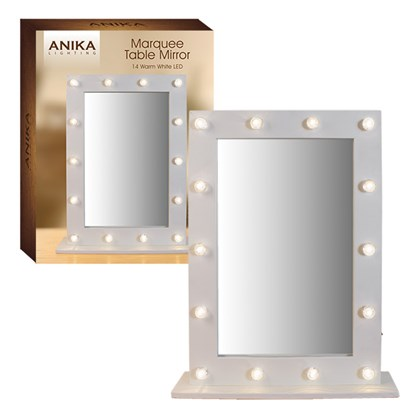 LED Marquee Table Mirror Warm White