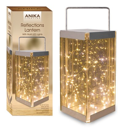 Glass Reflections LED Lantern