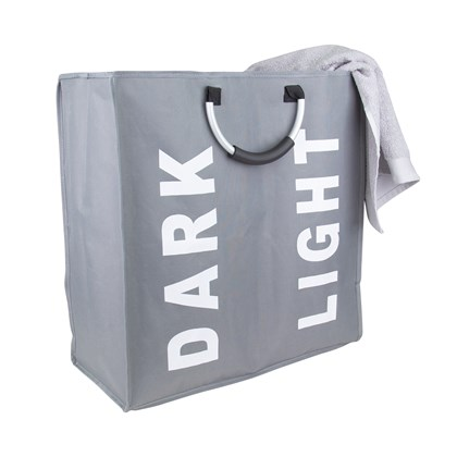 Double Laundry Bag - Grey