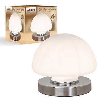 Opal Dome Table Lamp Chrome