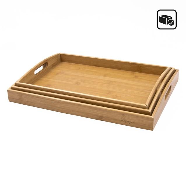 Blackmoor 3 Piece Bamboo Tray Set