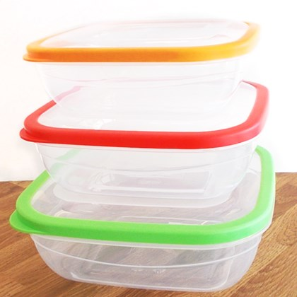 3 pack food storage containers