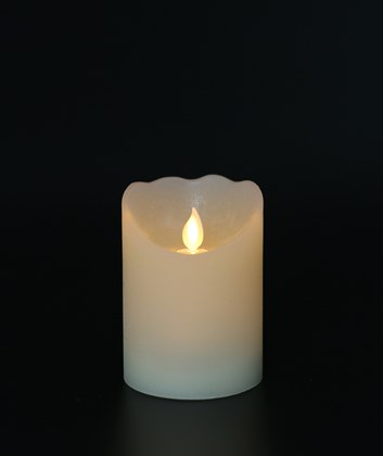 Flickering Flame Wax LED Candle 10cm