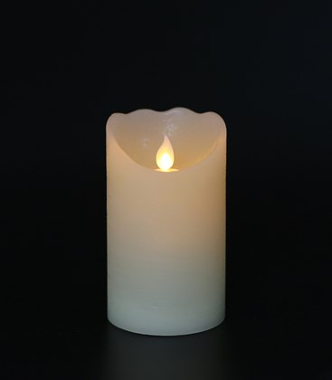 Flickering Flame Wax LED Candle 12.5cm