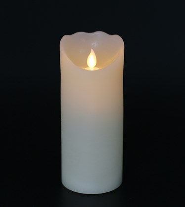 Flickering Flame Wax LED Candle 17.5cm