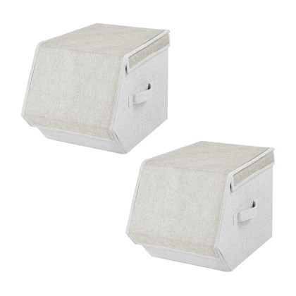 2 pack Small Magnetic Storage Box - Cream