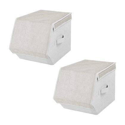 2 pack Small Magnetic Storage Box - Cream