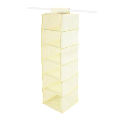 6 Shelf Wardrobe Organiser - Cream