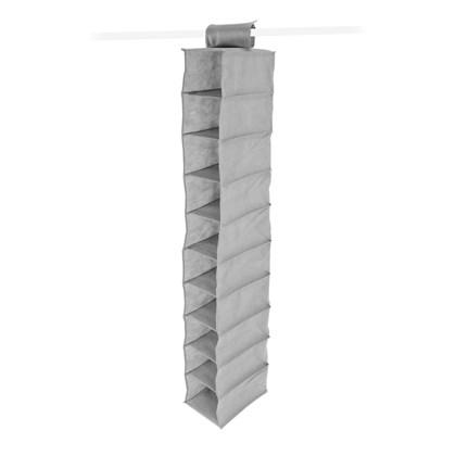 10 Shelf Wardrobe Organiser - Grey