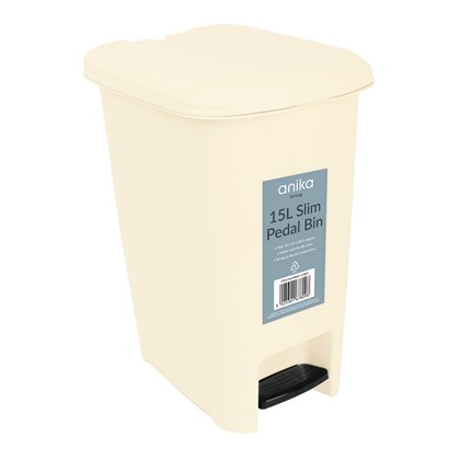 15 Litre Pedal Bin - Cream