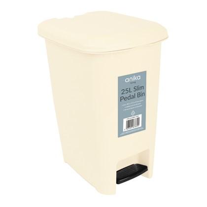 25 Litre Pedal Bin - Cream