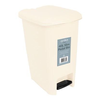 40 Litre Pedal Bin - Cream
