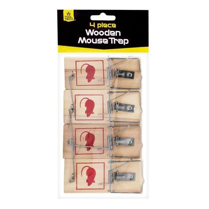 4pc Wooden Mouse Traps