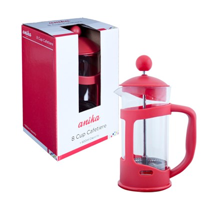 8Cup Cafetiere - Red