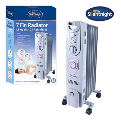 7-Fin 1.5Kw Oil Filled Radiator - Silentnight