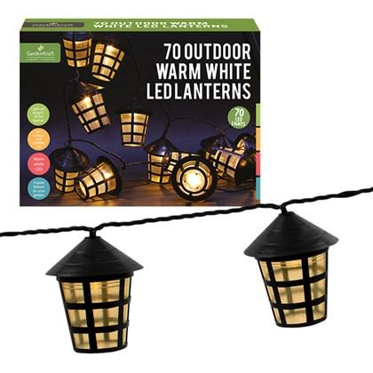 70 LED Clear Lanterns