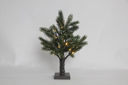 B/O 40cm, 21 LED Warm White Snowy Tree