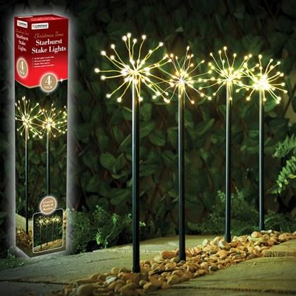 4PC 160 LED Starburst Path Light - Warm White