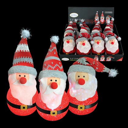 "5.5"" LED EVA Colour Changing Santa"