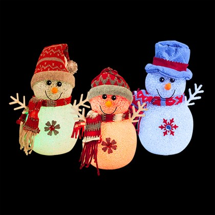 """7"""" EVA LED Colour Changing Snowman"""