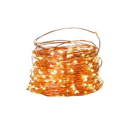 200 LED B/O Timer Copper Wire Chaser Lights - WW