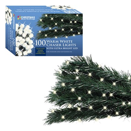 100 LED Warm White Chaser Lights