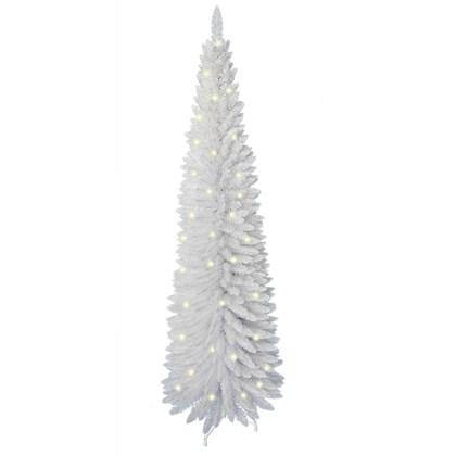 6FT Wht Pre-Lit Slim Line Tree