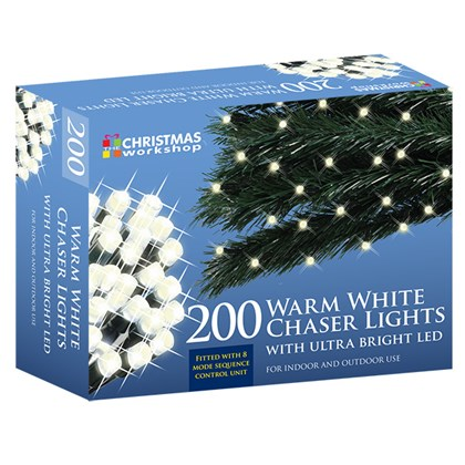 200 LED Warm White Chaser Lights