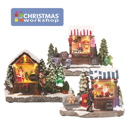 LED Festive Stalls/ 3 Assorted/ Battery Operated