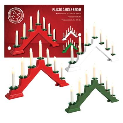 Plastic Candle Bridge - 3 Assorted