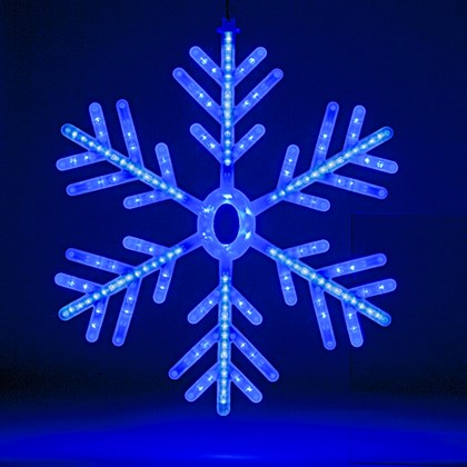 60cm Blue/White LED Snowflake Rope Light