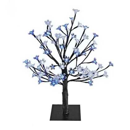 45CM 48 LED Blossom Tree - Blue & White