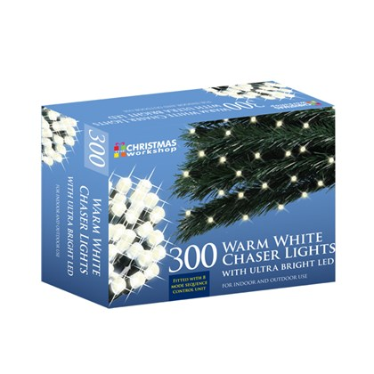 300 LED Warm White Chaser Lights