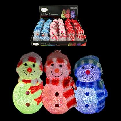 """4.5"""" EVA Colour Changing Snowman"""