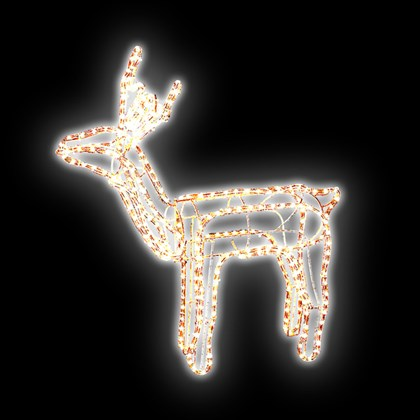 9m Moving Standing Reindeer Rope Light -Warm White